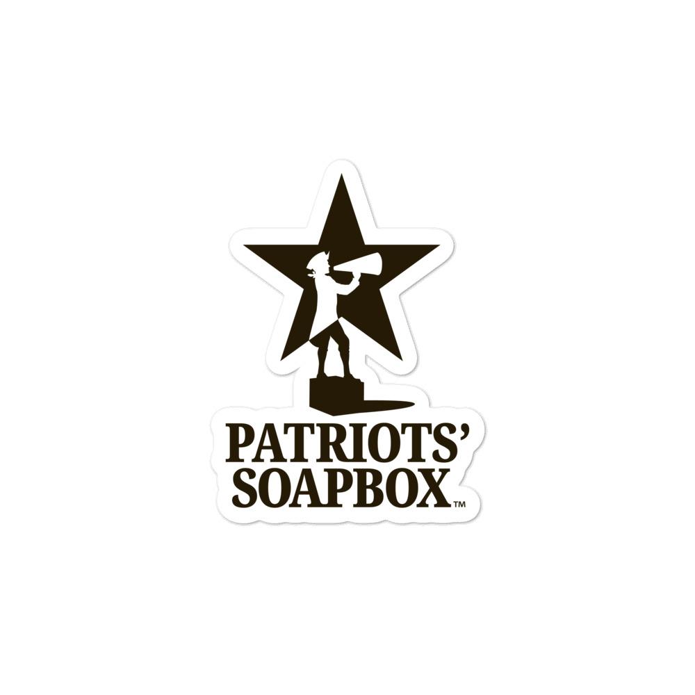 Patriots' Soapbox (TALL) Sticker