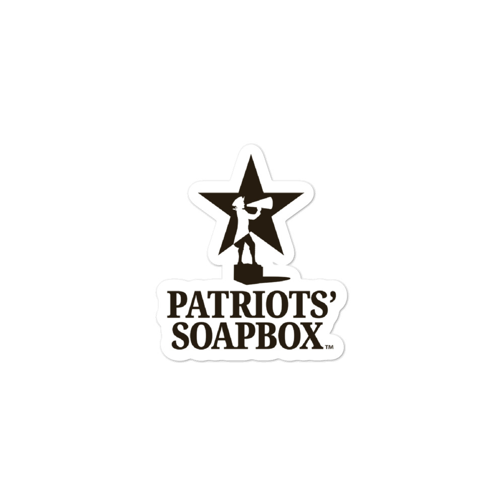 """2.5"""" by 2"""" Patriots' Soapbox Stickers"""